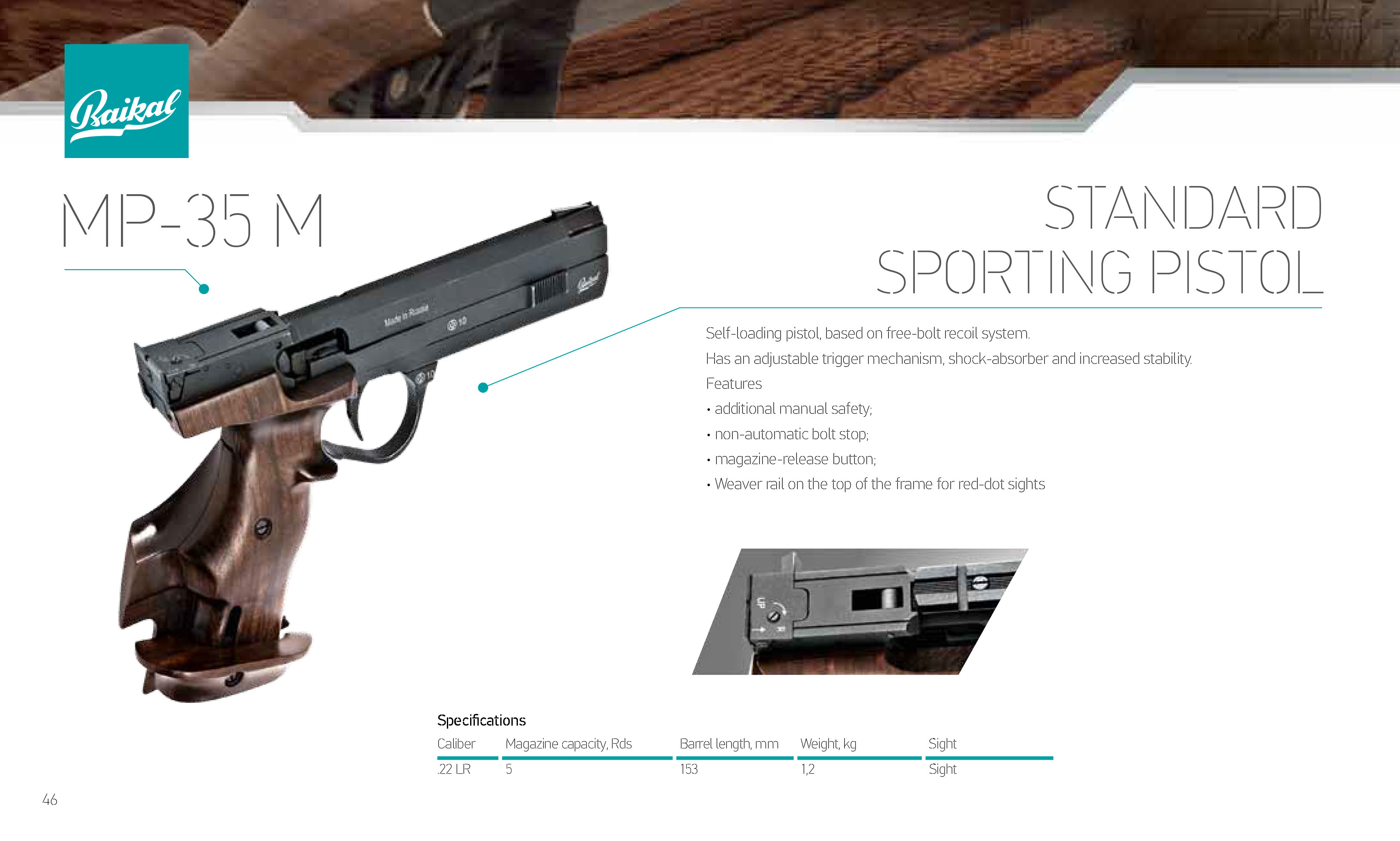 Self-loading hunting rifle MP-155: characteristics, reviews 80